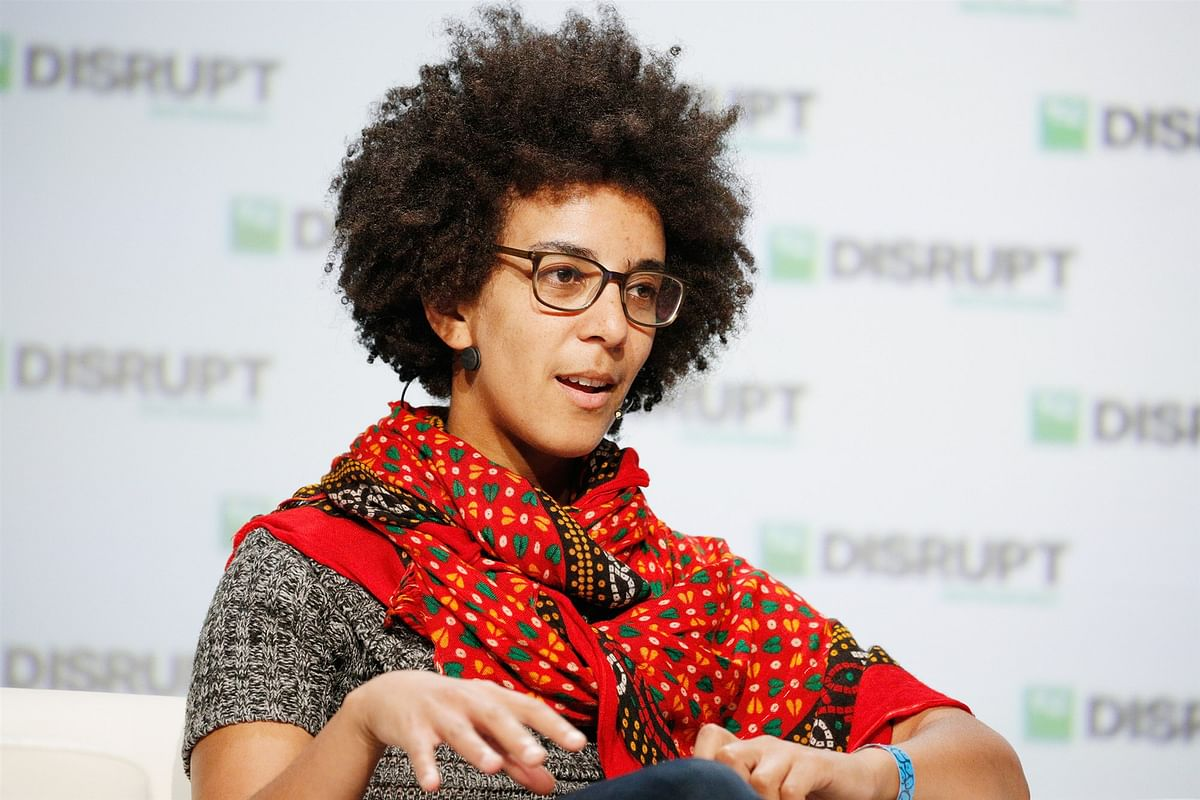 Google AI Research Scientist Timnit Gebru speaks onstage during Day 3 of TechCrunch Disrupt SF 2018 at Moscone Center on September 7, 2018 in San Francisco, California.