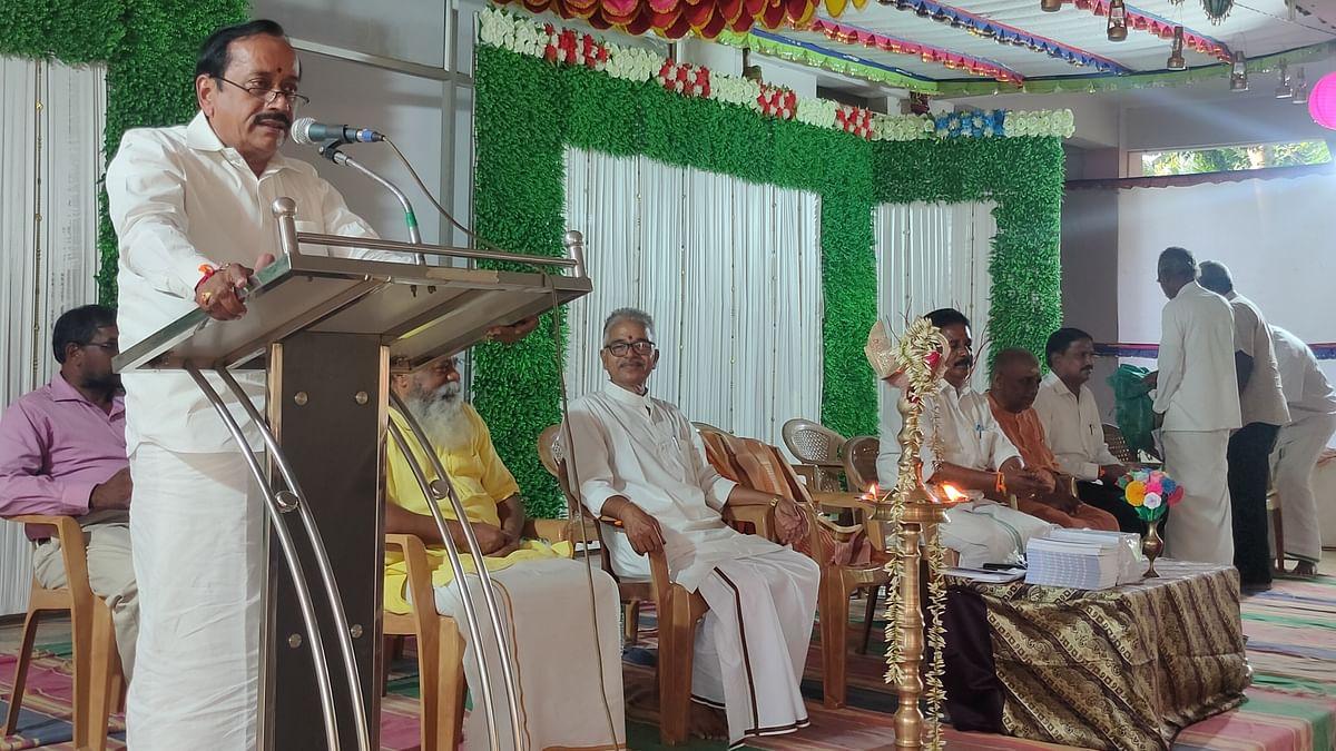புத்தக வெளியீட்டு விழாவில் பேசும் ஹெச்.ராஜா