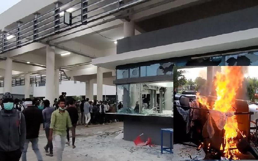 கர்நாடகாவில் அடித்து நொறுக்கப்பட்ட ஐபோன் தொழிற்சாலை! - 7,000 பேர் மீது வழக்கு