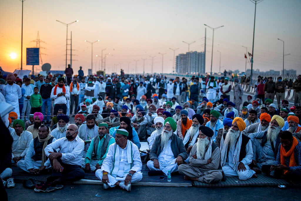 Farmers protest at Delhi-Uttar Pradesh state border