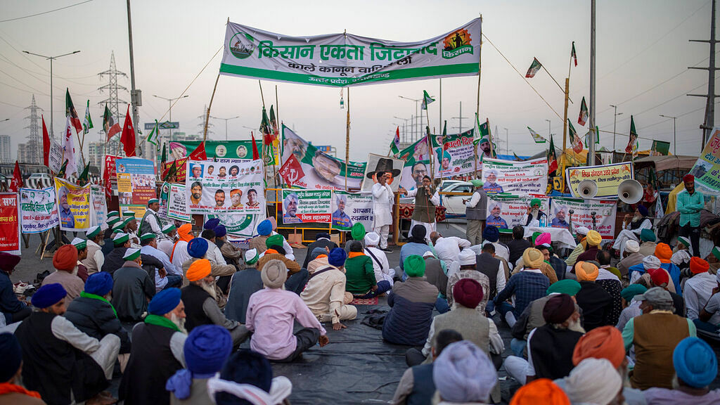 Farmers protest against new farm laws