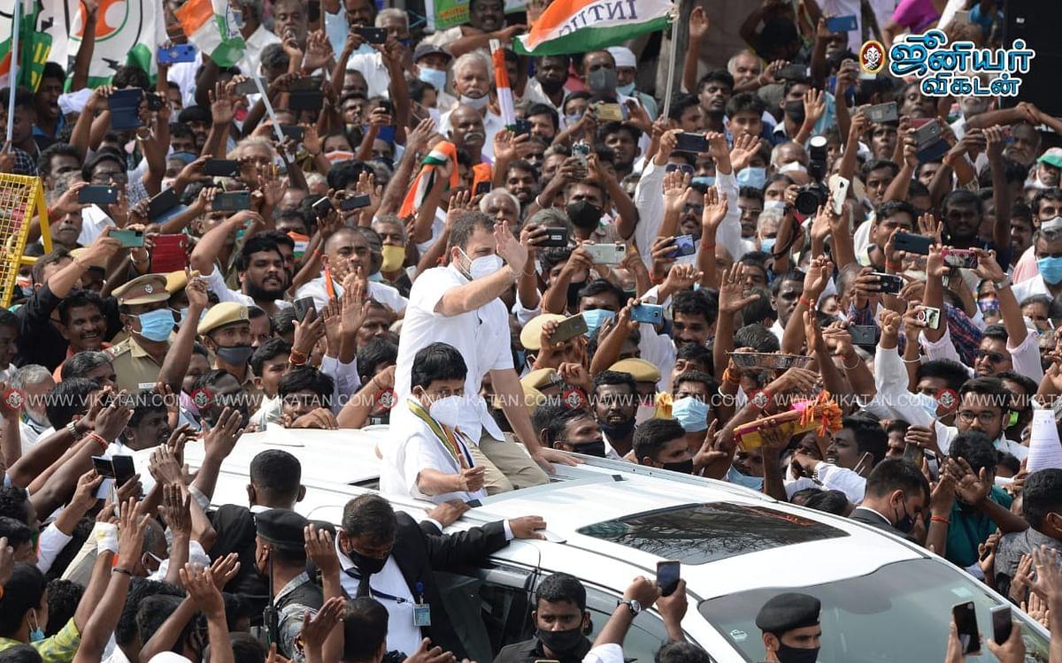 `தமிழக மக்களிடமிருந்து இந்தியா கற்க வேண்டும்!' - கோவையில் ராகுல் காந்தி