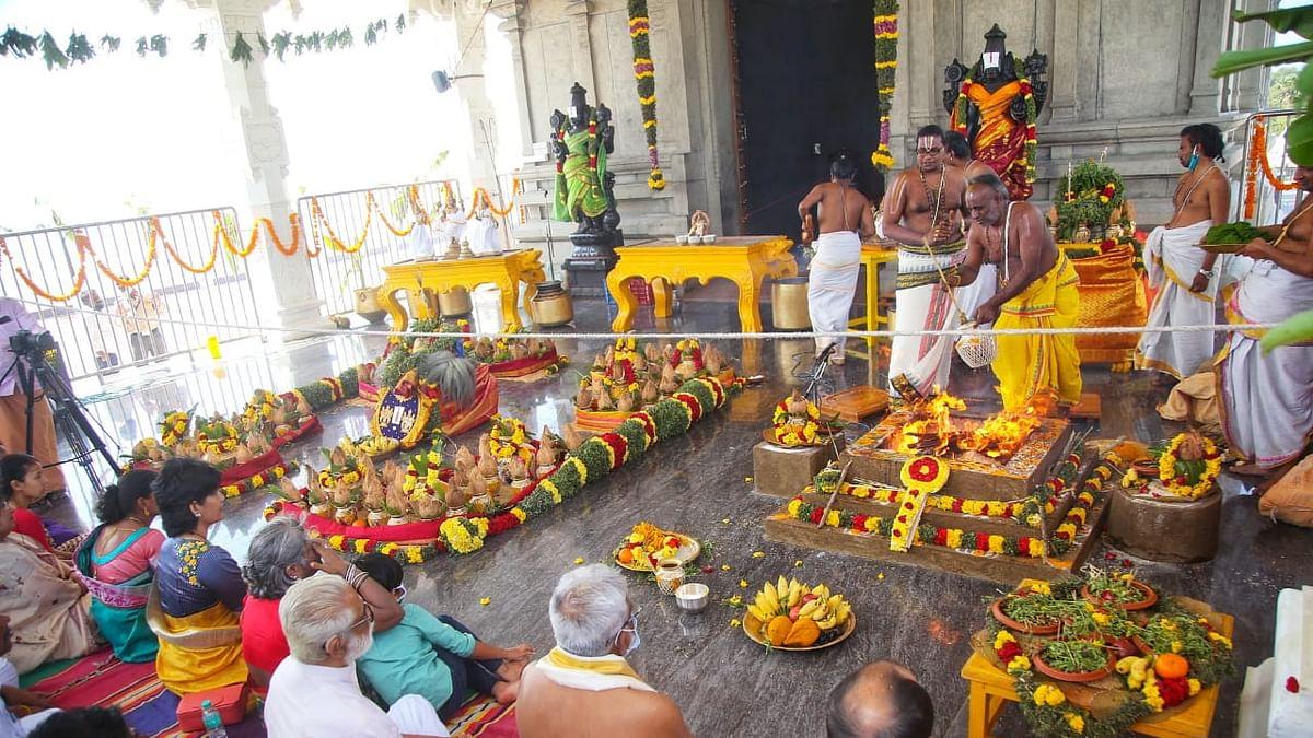 கன்னியாகுமரி திருப்பதி கோயிலில் நடந்த வருஷாபிஷேக விழா