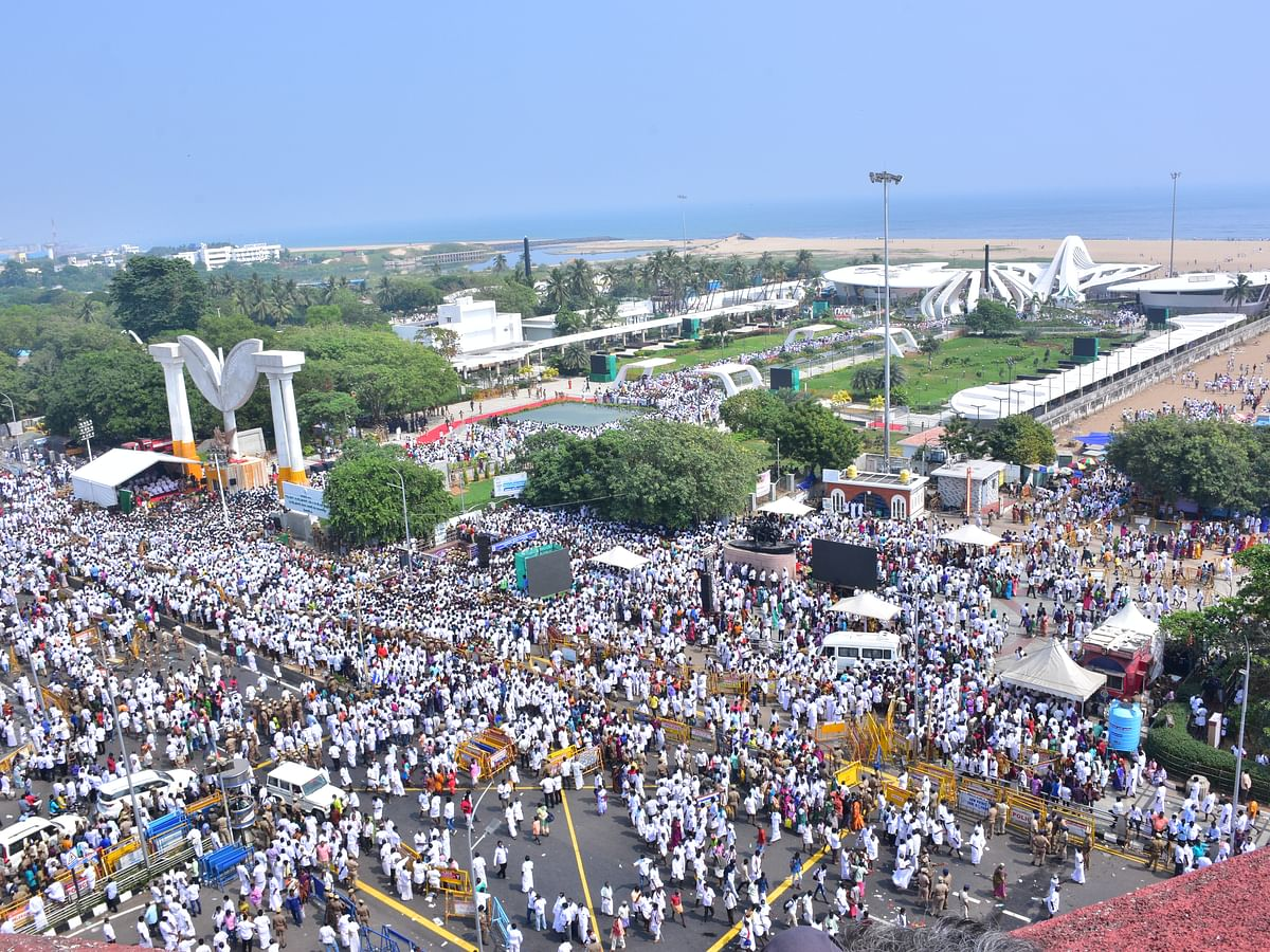 ஃபீனிக்ஸ் பறவை வடிவில் பிரமாண்ட ஜெயலலிதா நினைவிடம்... சிறப்புப் புகைப்படத் தொகுப்பு #SpotVisit