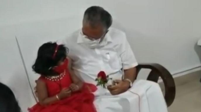 பினராயி விஜயனை சந்தித்த சிறுமி அவந்திகா