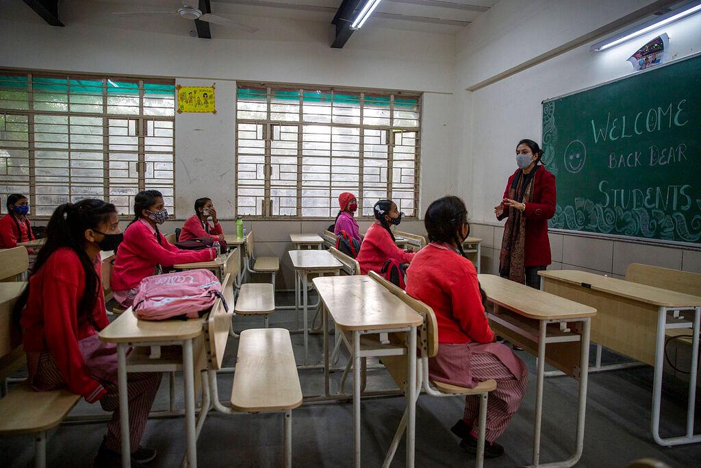 Classroom in New Delhi, India