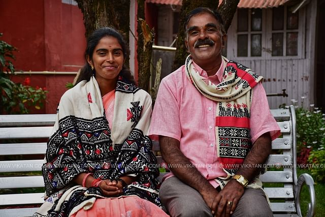 nandhini with her father