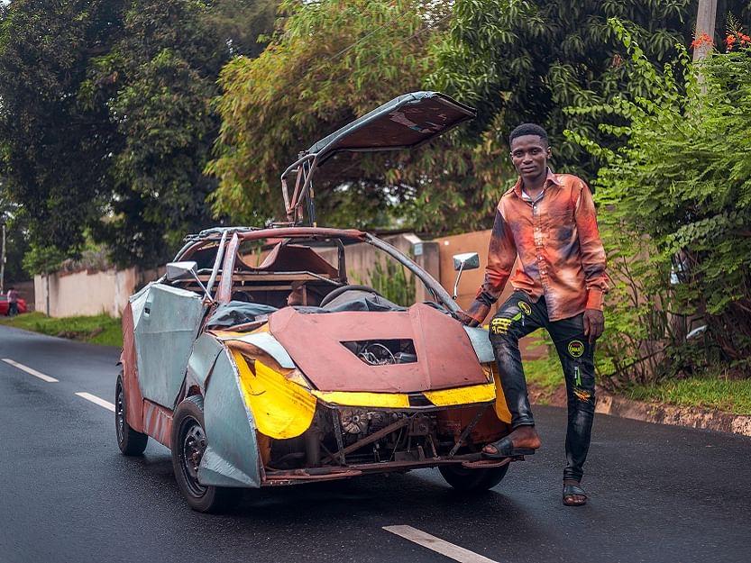 Kelvinsuik-2020: வித்தியாசமான காரின் சொந்தக்காரர்... ஆப்பிரிக்காவின் எலான் மஸ்க் கெல்வினின் கதை!