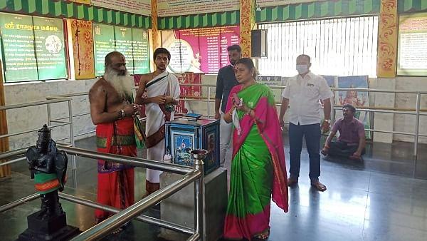 நரசிம்மர் கோயிலில் துர்கா ஸ்டாலின்