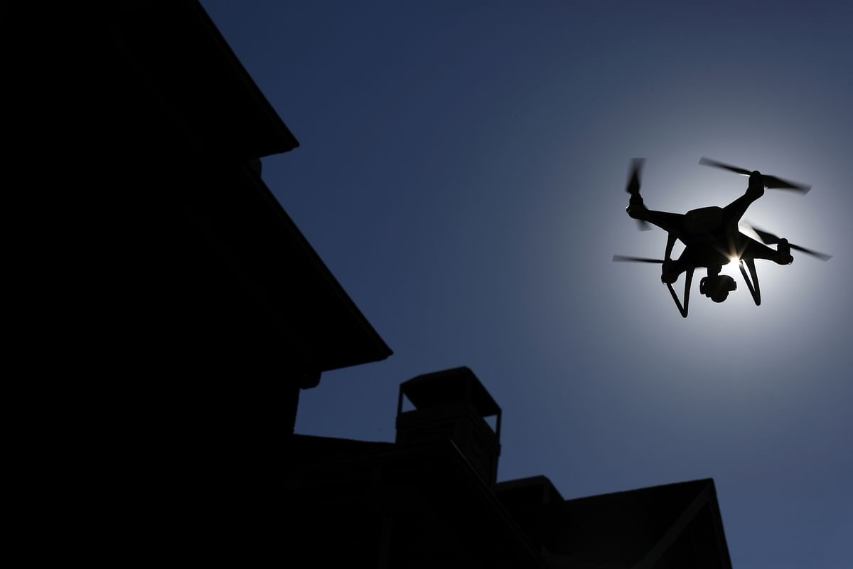 Drone used to collect geospatial data