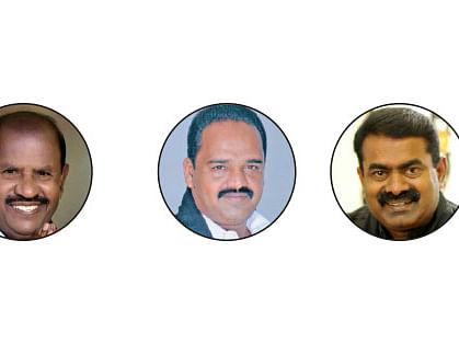 கே. குப்பன், கே.பி.சங்கர், சீமான்