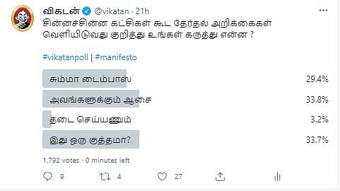 தேர்தல் அறிக்கை   VikatanPoll