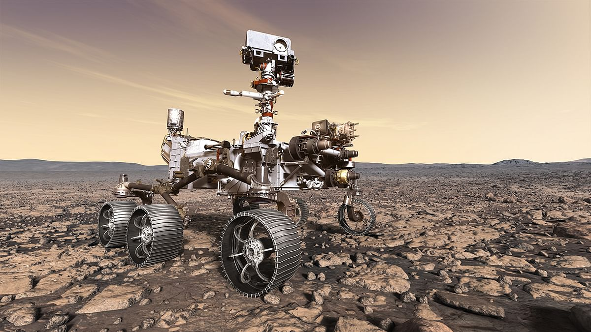 Perseverance rover in mars