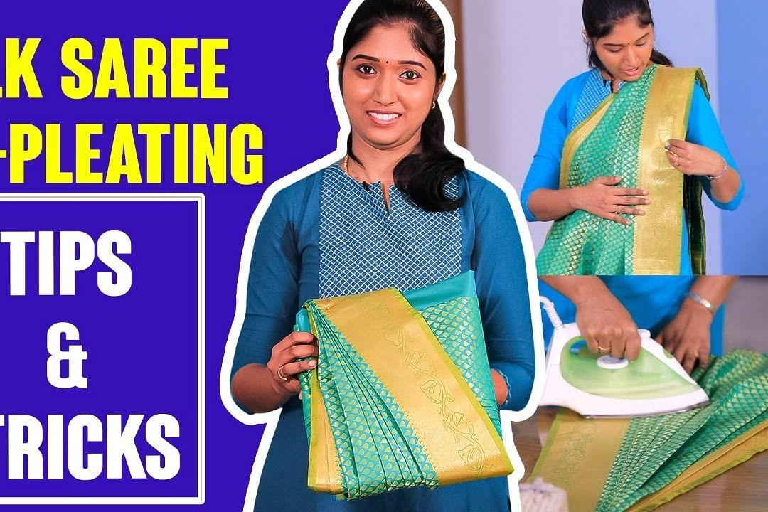Silk Saree Folding