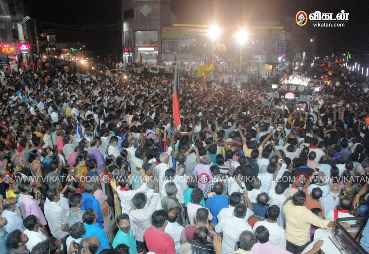நாகர்கோவில் பிரசாரத்தில் கலந்துகொண்டவர்கள்
