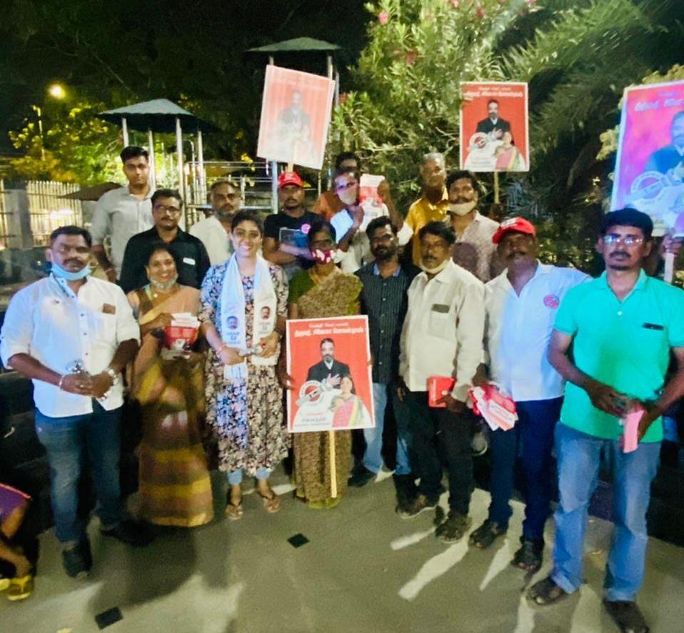 பிரசாரத்தில் சினேகா மோகன்தாஸ்