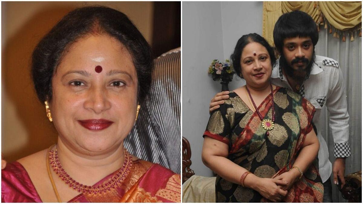 மகன் அம்ரீஷுடன் நடிகை ஜெயசித்ரா