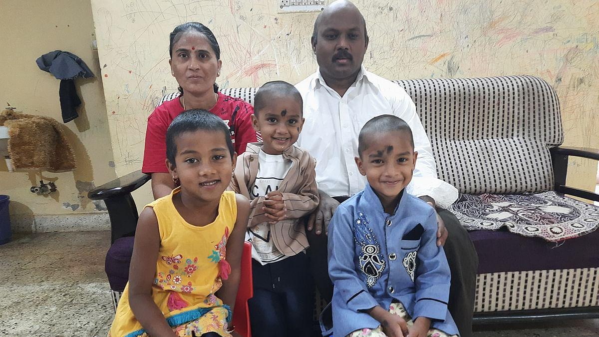 குழந்தைகளுடன் காளிதாசன் – மோஹிதா