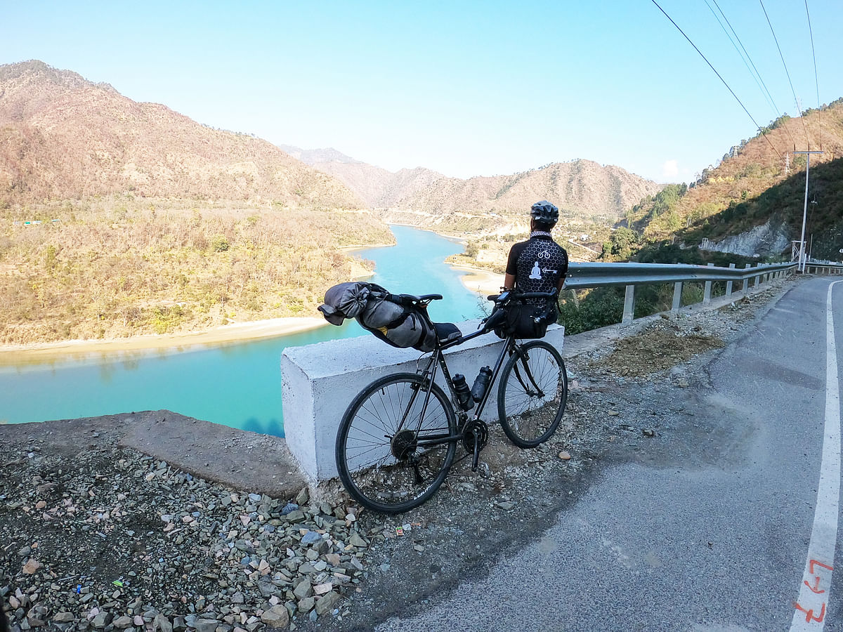 Cycling through the pristine mountains of Uttarakhand