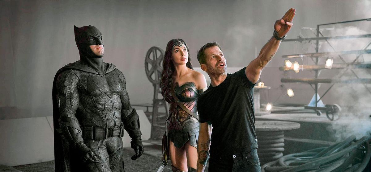 Batman, Wonderwoman with Director Zack Snyder