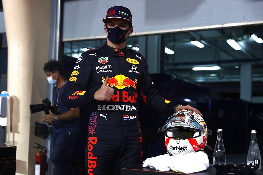 Verstappen after winning the poll position