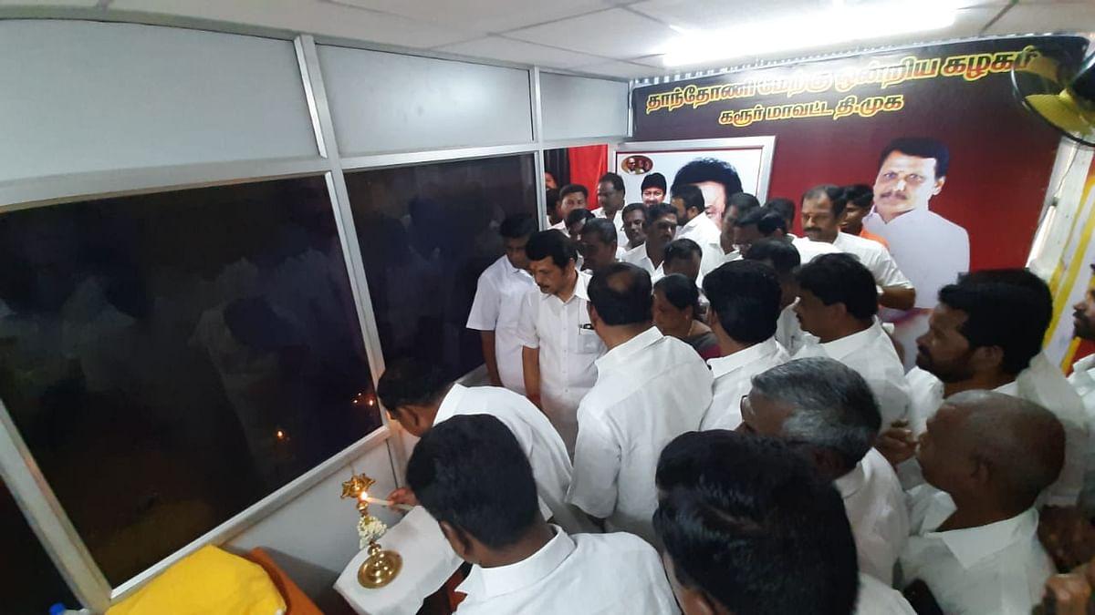 தி.மு.க அலுவலக திறப்புவிழாவில் செந்தில் பாலாஜி