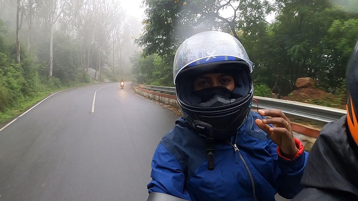 Pillion rider Vanavi