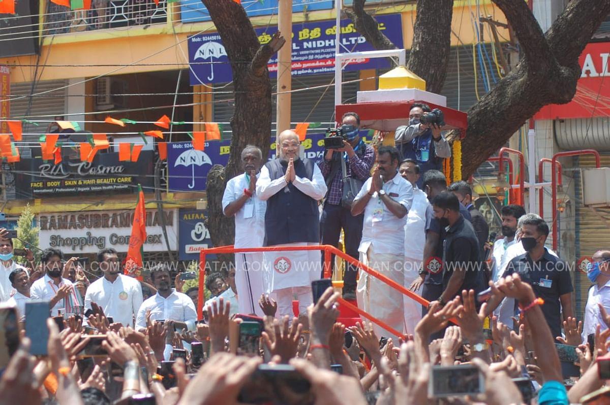 நாகர்கோவிலில் அமித்ஷா பிரசாரம்