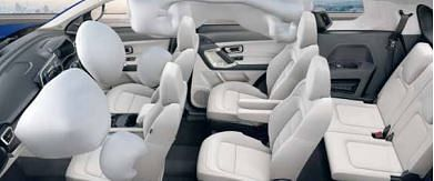 The six seat version has boss seats in the middle row
