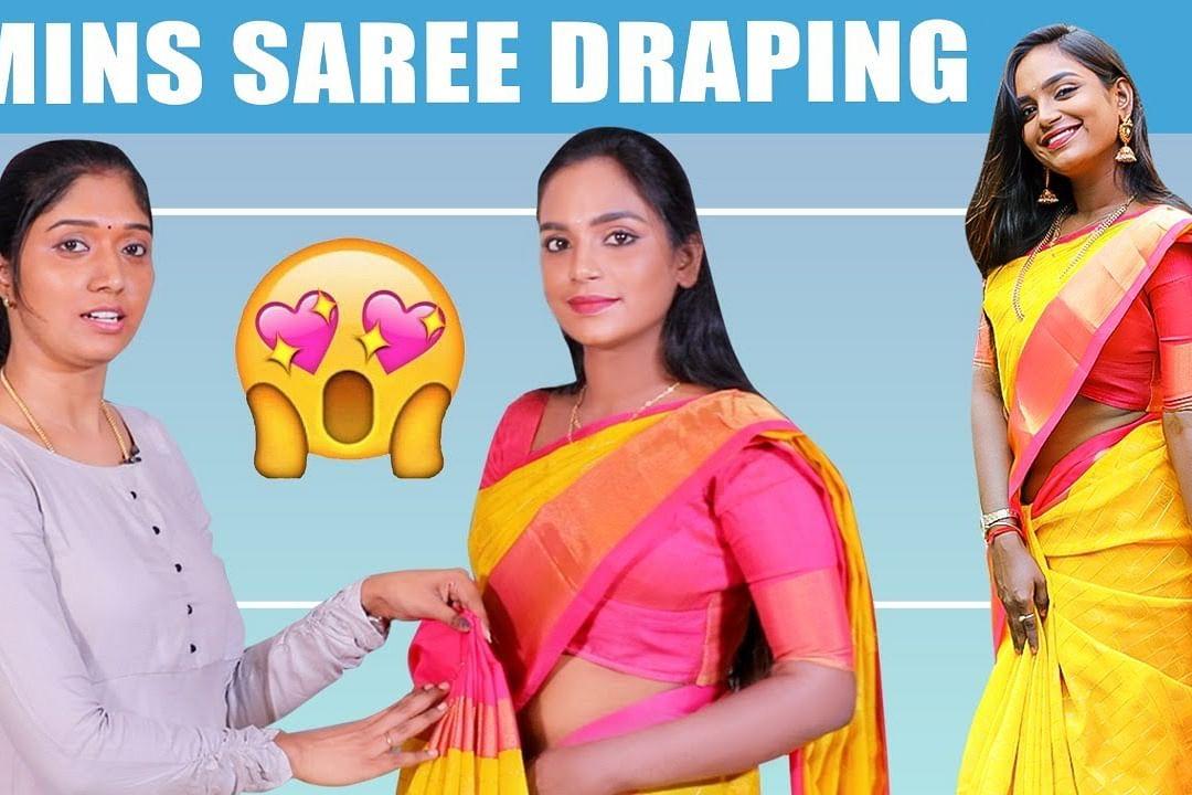 saree draping for slim women