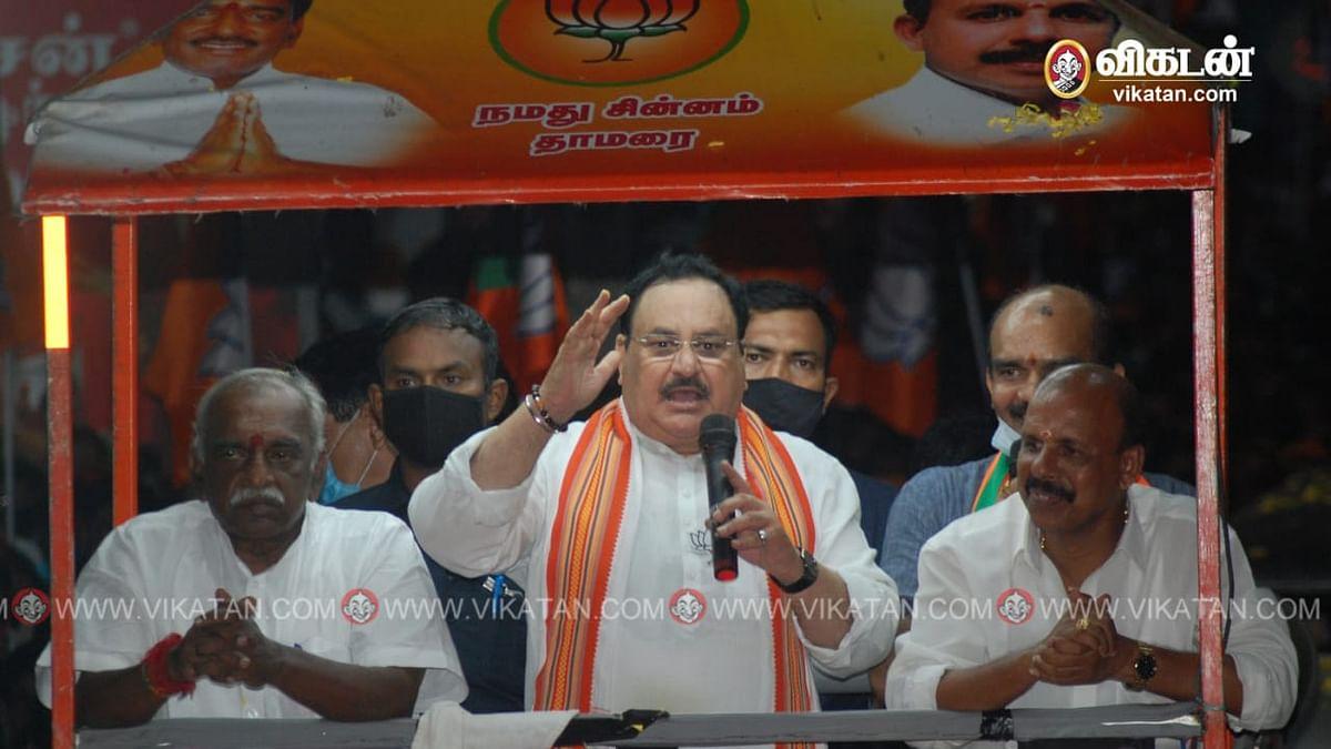 அருமனையில் பா.ஜ.க தேசிய தலைவர் ஜே.பி.நட்டா பிரசாரம்
