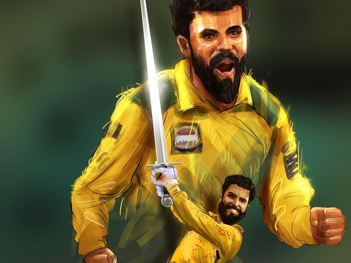 IPL 2021 : தோனியின் ஸ்டைலில், தோனியின் ஃபினிஷர்... சர் ஜடேஜா நிகழ்த்தும் அதிசயம், அற்புதம்! #Jadeja