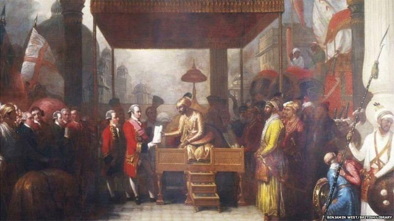 ஜஹாங்கீரிடம் அனுமதி பெறும் கிழக்கிந்திய வணிகர்கள்