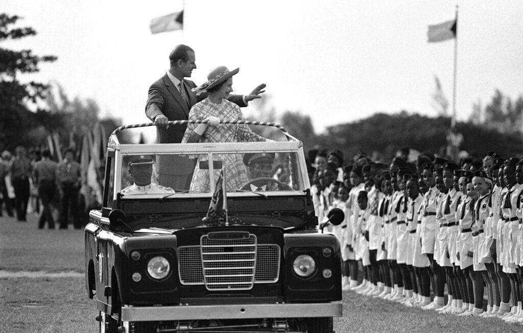 Britain's Queen Elizabeth II and Prince Philip