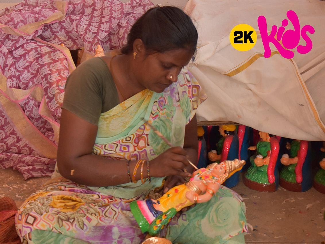2K kids: கைவண்ணமும் மண்வண்ணமும்!