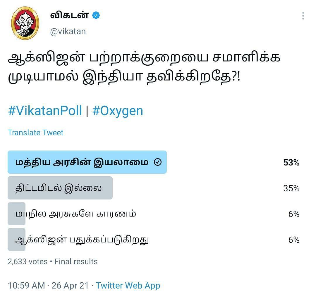 ஆக்ஸிஜன் | Vikatan Poll