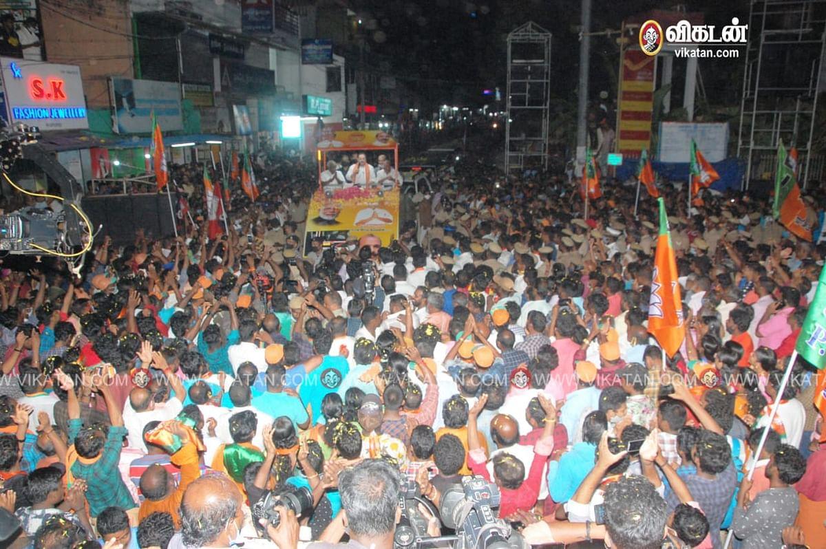 ஜே.பி. நட்டா பிரசாரம்