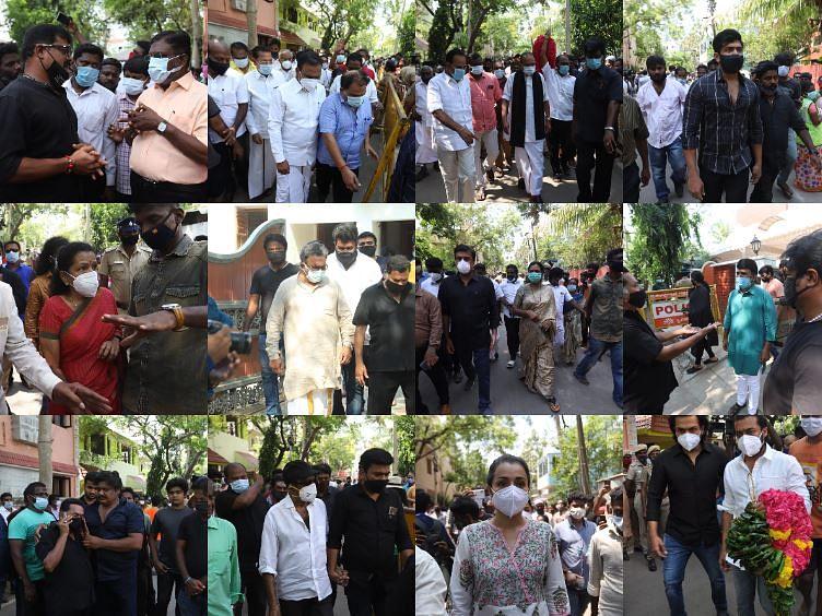 நடிகர் விவேக் மறைவு:  திரைத்துறையினர், அரசியல் பிரமுகர்கள், பொதுமக்கள் அஞ்சலி!
