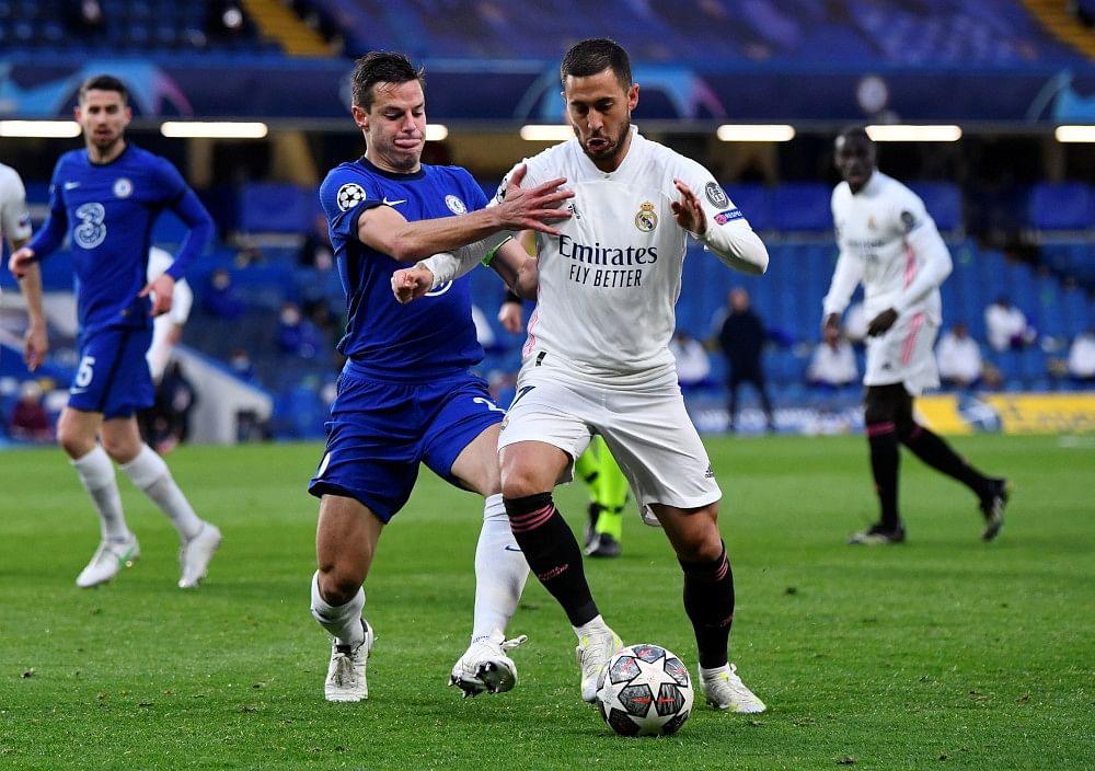 It was Hazard in the second leg against Azpilicueta