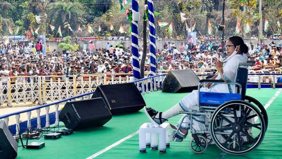 மேற்கு வங்கத்தில் எடுபடாமல் போன பாஜகவின் வியூகம்..  அடித்து நொறுக்கிய மம்தா பானர்ஜி!