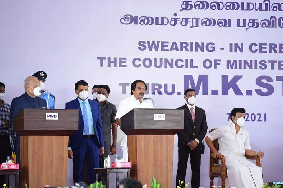 அமைச்சராக பொறுப்பேற்றுக்கொண்ட மனோதங்கராஜ்