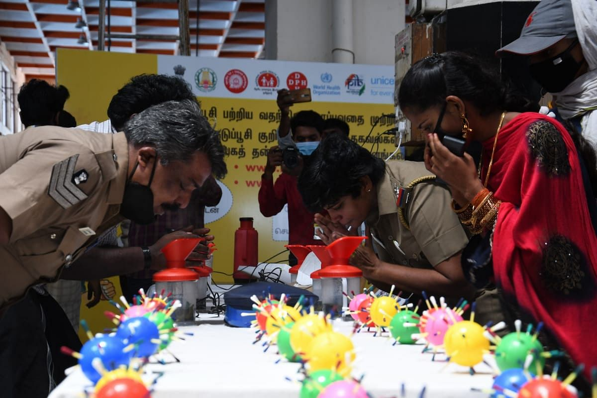 சென்னை சென்ட்ரல் ரயில் நிலையத்தில் ஆவி பிடிக்க ஏற்பாடு