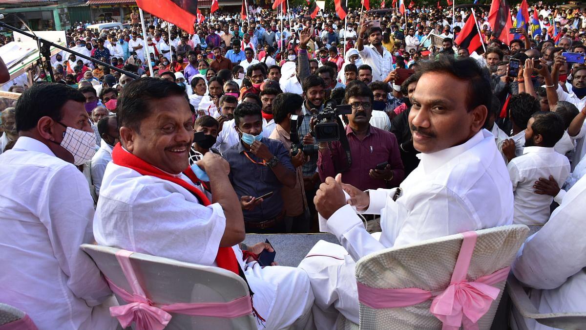 ராமச்சந்திரன் மற்றும்  எம்.பி ஆ.ராசா
