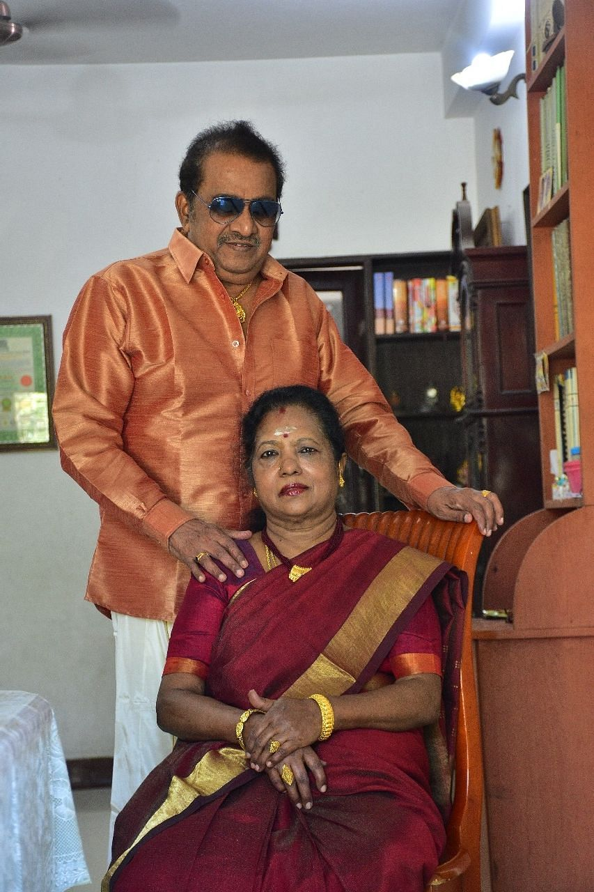Actor Pandu with his Wife