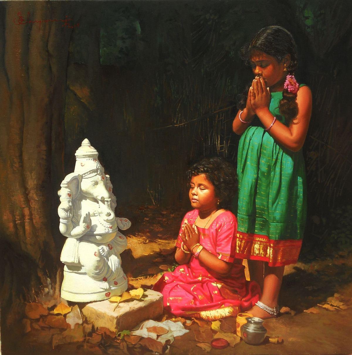 இளையராஜாவின் ஓவியம்