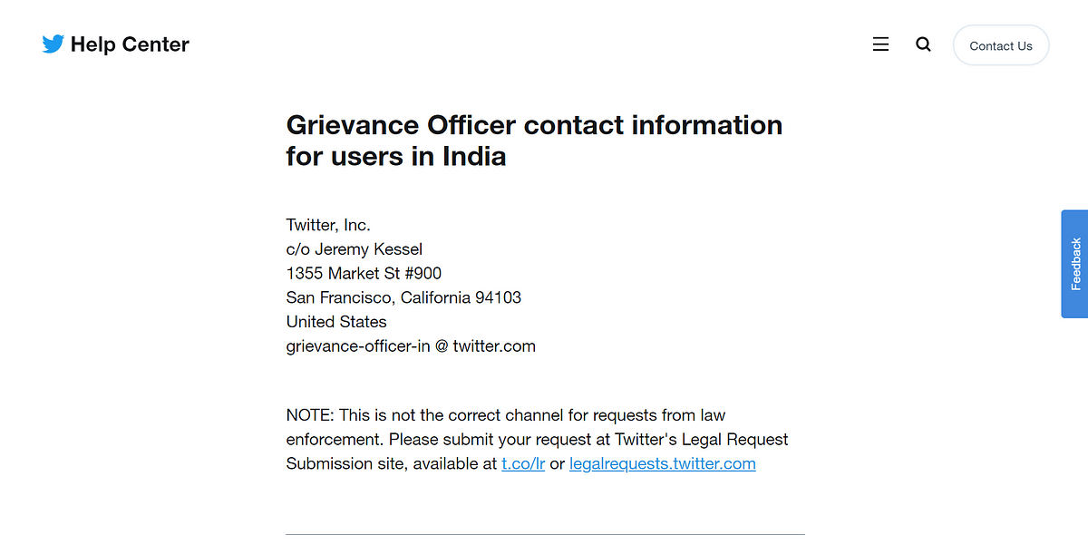 New Grievance officer