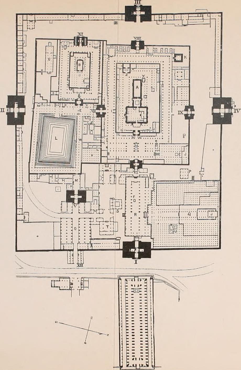 மதுரை மீனாட்சி அம்மன் கோவிலின் வரைபடம்