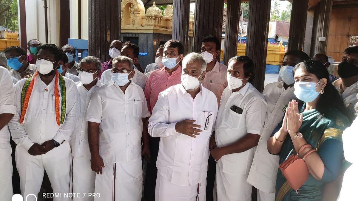கோயிலில் ஆய்வு மேற்கொண்ட அமைச்சர் சேகர்பாபு