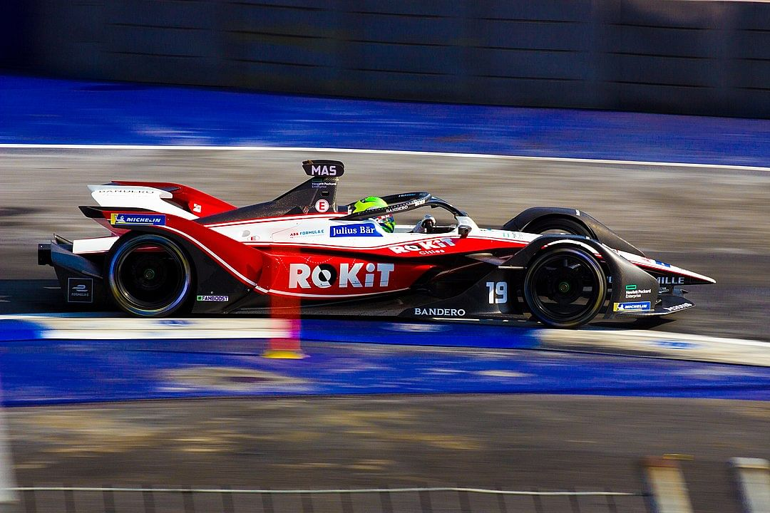 A 2020 Formula E car