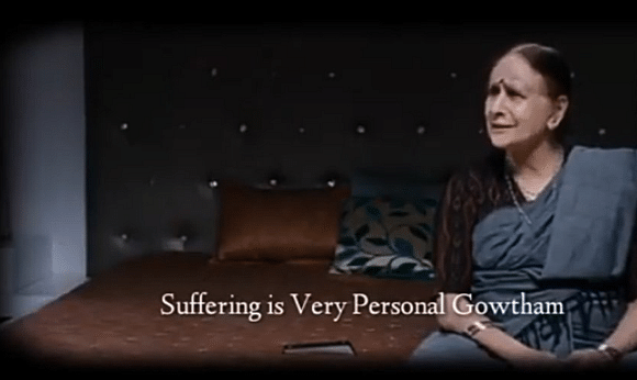 Suffering is very personal
